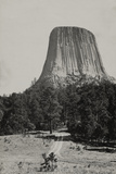 A Full Length View of the Devils Tower in the Black Hills of Wyoming  1922