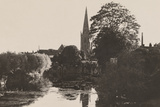 A Flat Stretch of the River Thames Infront of the Church of St Helen  Abingdon