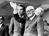 Italian President Sandro Pertini Waves to the Winning Italian Team of the 1