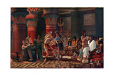 Pastime in Ancient Egypt Three Thousand Years Ago  Illustration from 'Egyptian Myth and Legend' …