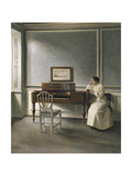 Woman Reading by a Piano  1907