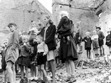 Children in Berlin Watch the British Seventh Armoured Division Entering the City  4th July 1945