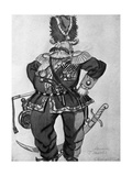 Costume Sketch for the Stage Production of 'The Flea'  1925