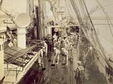 Scrubbing the Deck of the HMS Calliope