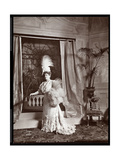 Lillian Russell in Costume on the Set of a Production at Proctor's 23rd Street Theatre  New York …