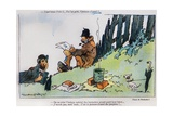 Cartoon Depicting Two Tramps  from the 'April Fool's Day ('Poisson d'Avril') Edition of 'La…