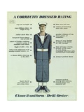 A Correctly Dressed Rating  Class II Uniform (Drill Order)  1957