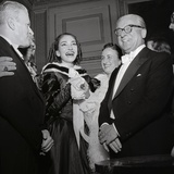 Maria Meneghini Callas with Giovanni Gronchi at the Inauguration of the Theatre Season at La…