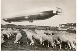 "The Passenger Zeppelin LZ10  ""Schwaben"" in Flight  1911"