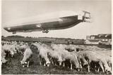 """The Passenger Zeppelin LZ10  """"Schwaben"""" in Flight  1911"""