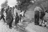 Soldiers of the Territorial Army Making Soup at a Camp on Pont de l'Alma  Paris  1914