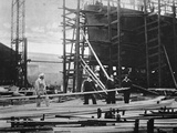 Women at Work in a Naval Ship-Building Yard  1916