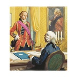 James Wolfe Being Appointed by the British Prime Minister  William Pitt