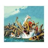 Death of Maxentius at the Battle of Milvian Bridge