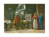 Pope Julius II Visits the Workshop of Michelangelo