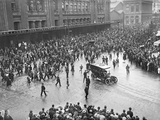 Arrival of Field Marshal John Denton Pinkstone French  1st Earl of Ypres  in Gare Du Nord  Paris …