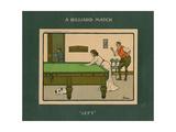 A Billiard Match - Left