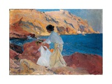 Clotilde and Elena on the Rocks  Javea  1905