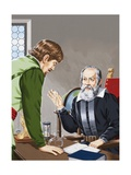 Galileo Showing How the Temperature of the Air Could Be Measured