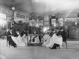 Female Workers in a Department Store  Paris  1914