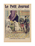 Abdication of Moulay-Hafid  Sultan of Morocco  Cover Illustration of 'Le Petit Journal'  25…