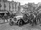 Italian Volunteers Surrounding Garibaldi Brothers' Car  Gare de Lyon  Paris  1914