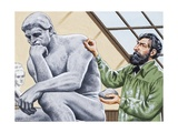 Rodin Finishing 'The Thinker'
