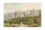 Old Town Edinburgh from Princes Street Gardens
