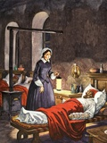 Florence Nightingale The Lady with the Lamp  Visiting the Sick Soldiers in Hospital