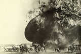 Soldiers Flee from the Fiery Explosion of a Hydrogen Balloon  Fort Still  Oklahoma  USA  1919