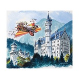 Chitty Chitty Bang Bang Passes by Neushwanstein in the Bavarian Alps