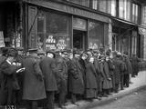 Customers Waiting for Tobacco Distribution at 'A La Civette'  Paris  1918