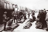 Boarding a Hospital Train
