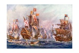 The Glorious Victory of Elizabeth's Seamen over the Spanish Armada  1588