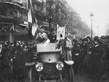 Celebrating the Armistice Day Through Paris Boulevards  11th November 1918