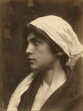 A Teenage Boy Wears Scarf  Shawl and Wig in Reenactment of Greek Myth  Sicily  Italy  1916