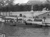 River Gunboats Moored at Paris  Pont Alexandre III  1915