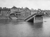 The Destroyed Iron Bridge  Lagny Sur Marne  1914