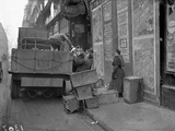 Military Lorries Collecting Rubbish  Paris  1917