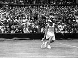 Miss Joan Hartigan in Action at Wimbledon  1935
