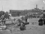 British Camp on the Quay  Rouen  1914