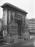 Porte St Denis Protected by Sand Bags  Paris  1918