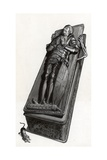 Funerary Monument with Skeleton Coming Out