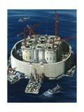 Giant Concrete and Steel Oil Tank for the Ekofisk Oil Field