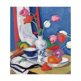 Red Chair and Tulips  c1919