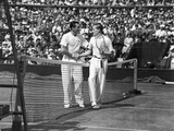 Fred Perry and Von Cramm at Wimbledon  5th July 1935