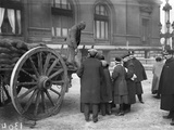 Selling Coal in the Courtyard of the Opera  Paris  1917