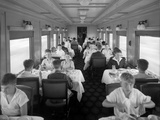D&Rgw Dining Car Interior  c1927