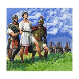 Young Briton Arrested by Roman Soldiers