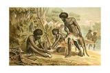Australian Aborigines Preparing a Meal